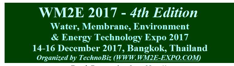 WM2E 2017 - 4th Edition Water, Membrane, Environment
