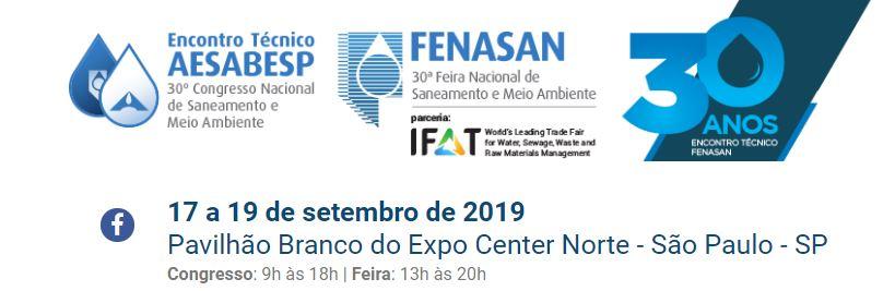 30º Encontro Técnico da AESABESP/ FENASAN 2019