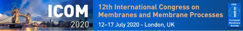 International Congress on Membranes & Membrane Processes 2020 12–17 July 2020 | London, UK