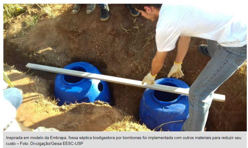 Alunos de engenharia levam tratamento de esgoto a áreas rurais Grupo da USP em São Carlos construiu formas alternativas de saneamento