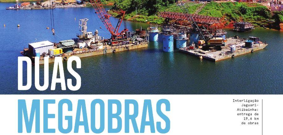 Obra da Sabesp concede água para 39 milhões de pessoas no Rio e em SP
