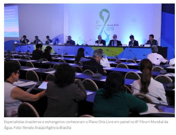 Desobstrução da orla do Lago Paranoá é destaque em painel do fórum mundial