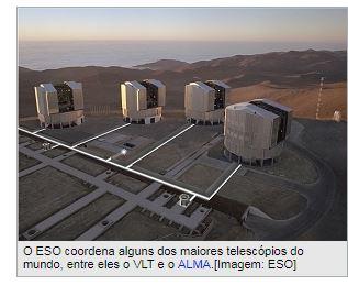 ESO suspende Brasil por não pagar por participação em telescópios